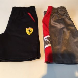 Two pairs Puma boys shorts size 3T